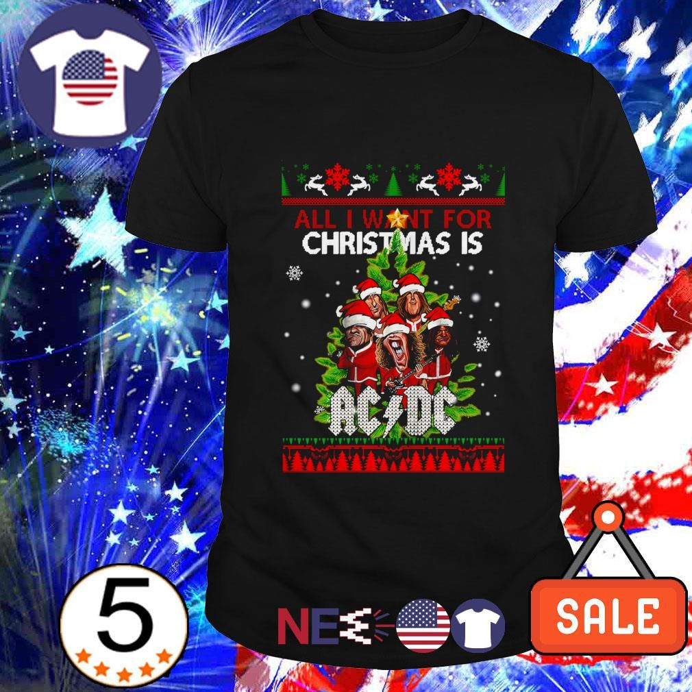 Pin On All I Want For Christmas Is Ac Dc Ugly Shirt