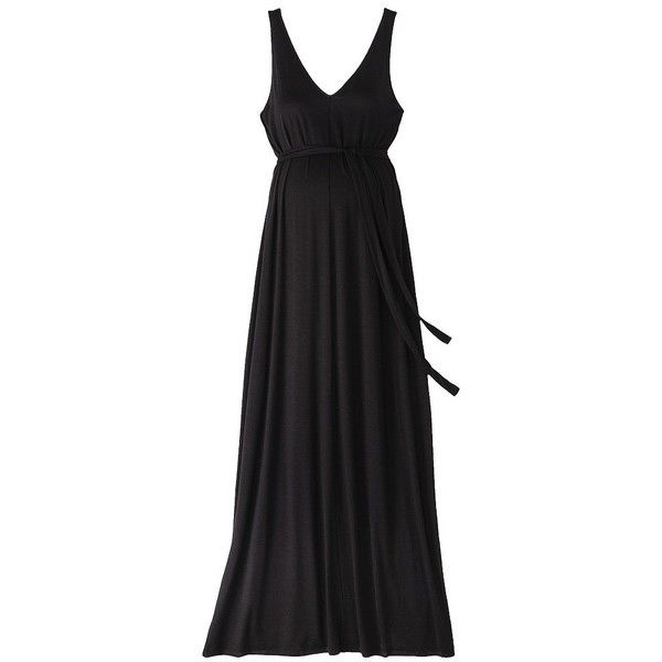 c26a6aba66602 Liz Lange® for Target® Maternity Maxi Swim Cover-Up Dress - Black ($27) ❤  liked on Polyvore