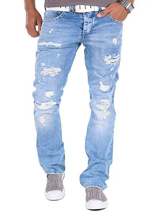 Shoppen Sie Red Bridge by Cipo & Baxx RB-171 Jeans Distressed Style Helle  Waschung