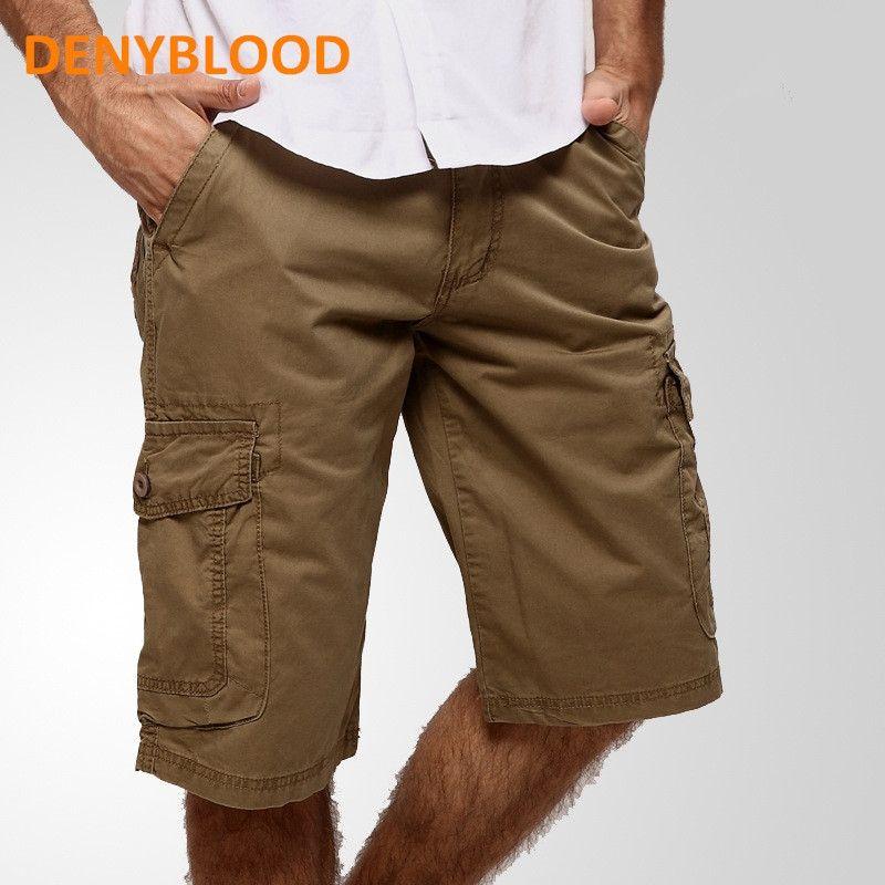 182bb755089 New 2017 Summer Mens Capris Casual Army Green Loose Cargo Shorts Men Large  Size Multi-pocket Military Short Pants Bermuda 927