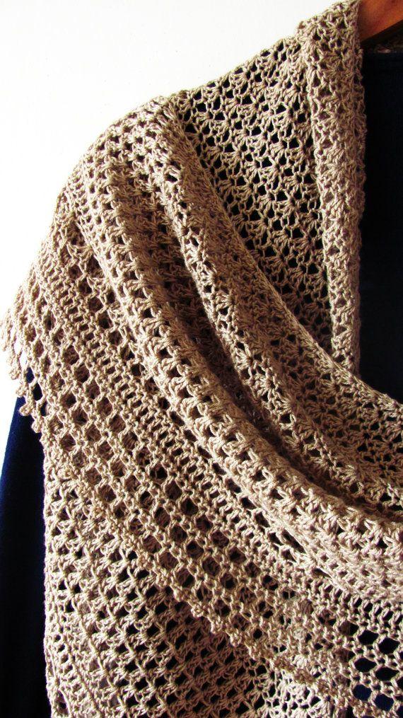 Hourglass Shawl PDF Crochet Pattern | Chale | Pinterest | Reloj de ...
