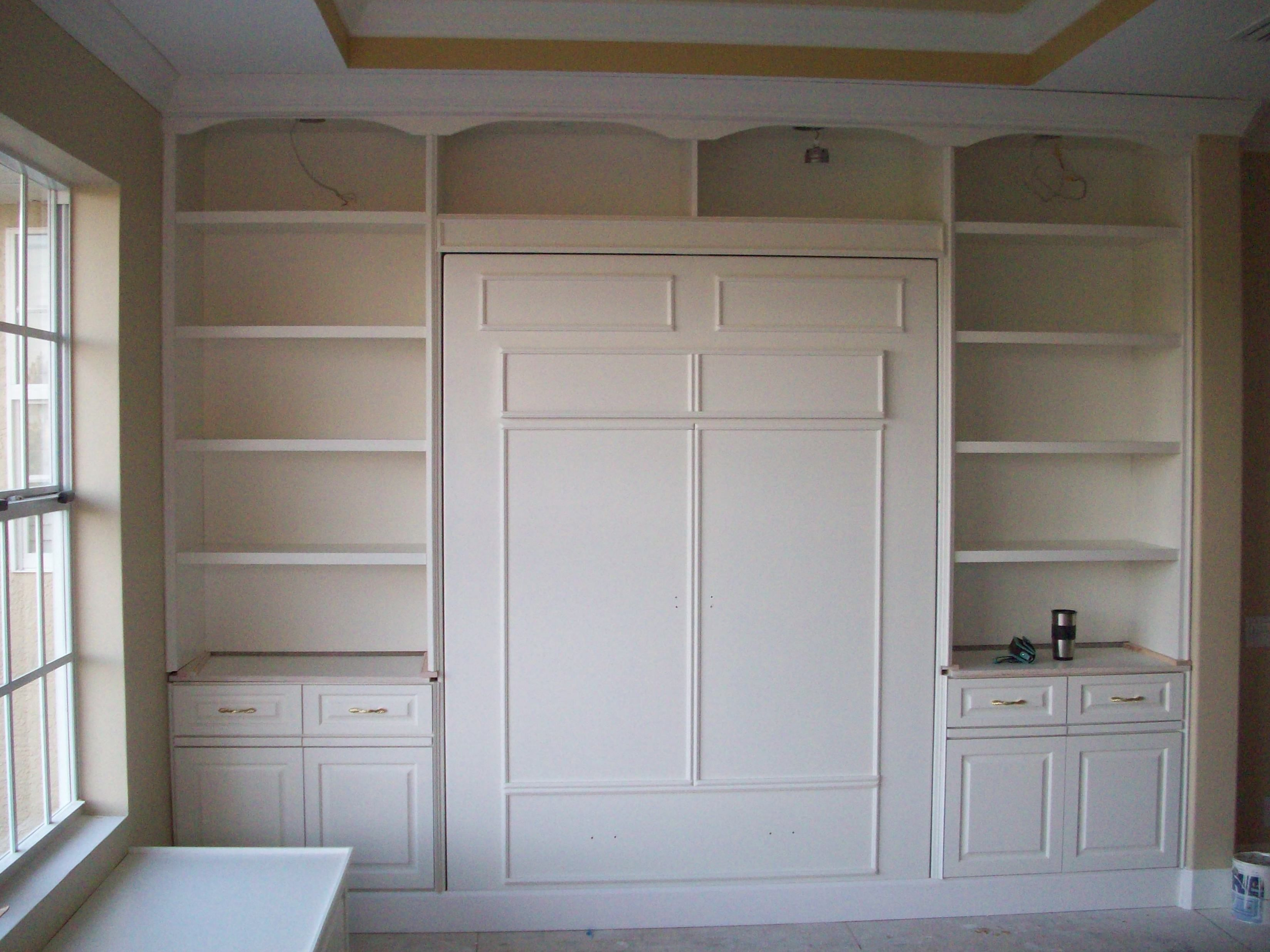 built into wall bed. This Custom Murphy Bed Unit Was Built Into A Craft Room. Melbourne, FL Wall