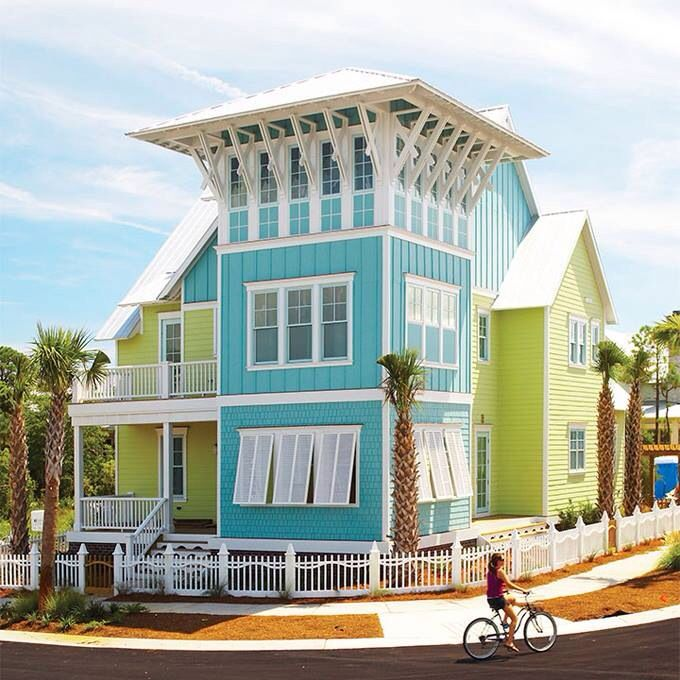 Key West Turquoise And Lime On The Corner