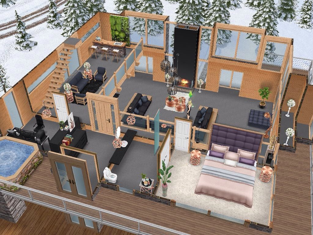 House 112 Level 2 Sims Simsfreeplay Simshousedesign Maison Sims Sims Architecture Design