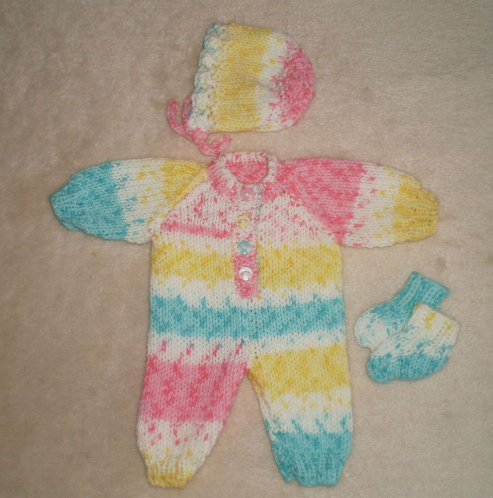 Hand knitted dolls clothes for 13/15 Reborn/Preemie | POUPONS ...
