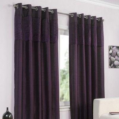 Pippa Faux Silk Lined Eyelet Curtains Aubergine @Matty Chuah Range