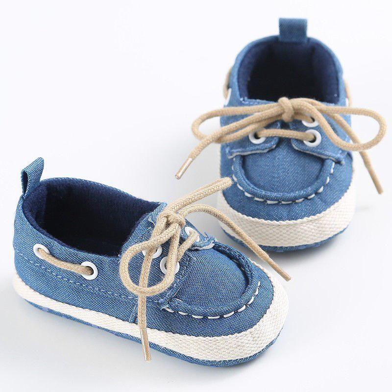 Outdoor Baby Infant Kid Boy Girl Soft Sole Sneaker Denim Toddler Walker Shoes