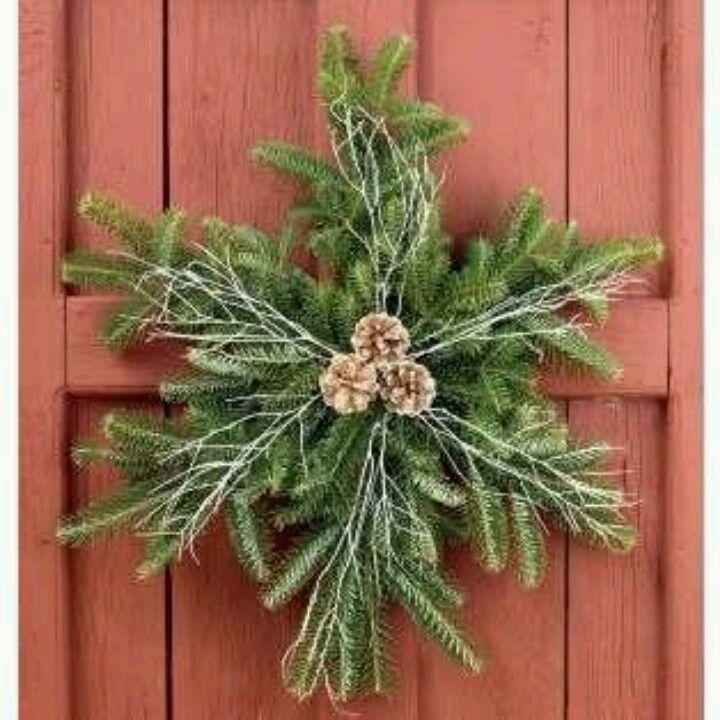 Snow Flake Wreath Christmas Christmas Wreaths Holiday