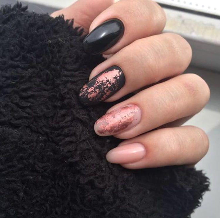 Black Nail Design Trends Rose Gold Nails Min Ecemella Nail Ideas