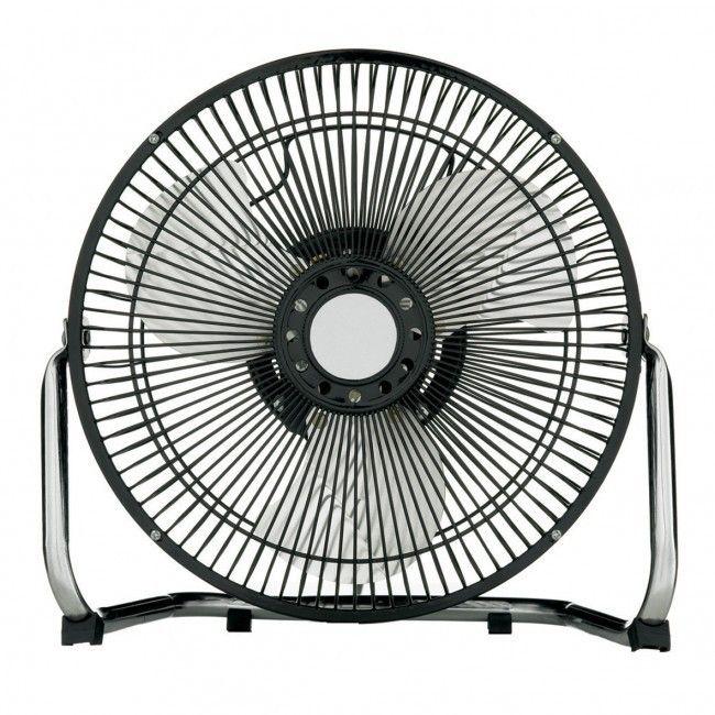 Heller 3 Speed  High Velocity Metal Fan Black 23cm