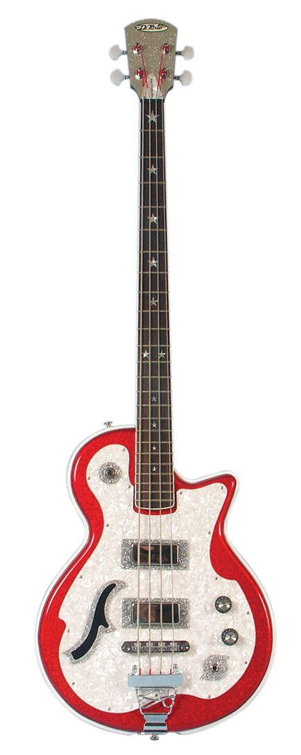 Belvedere Deluxe bass, red sparkle