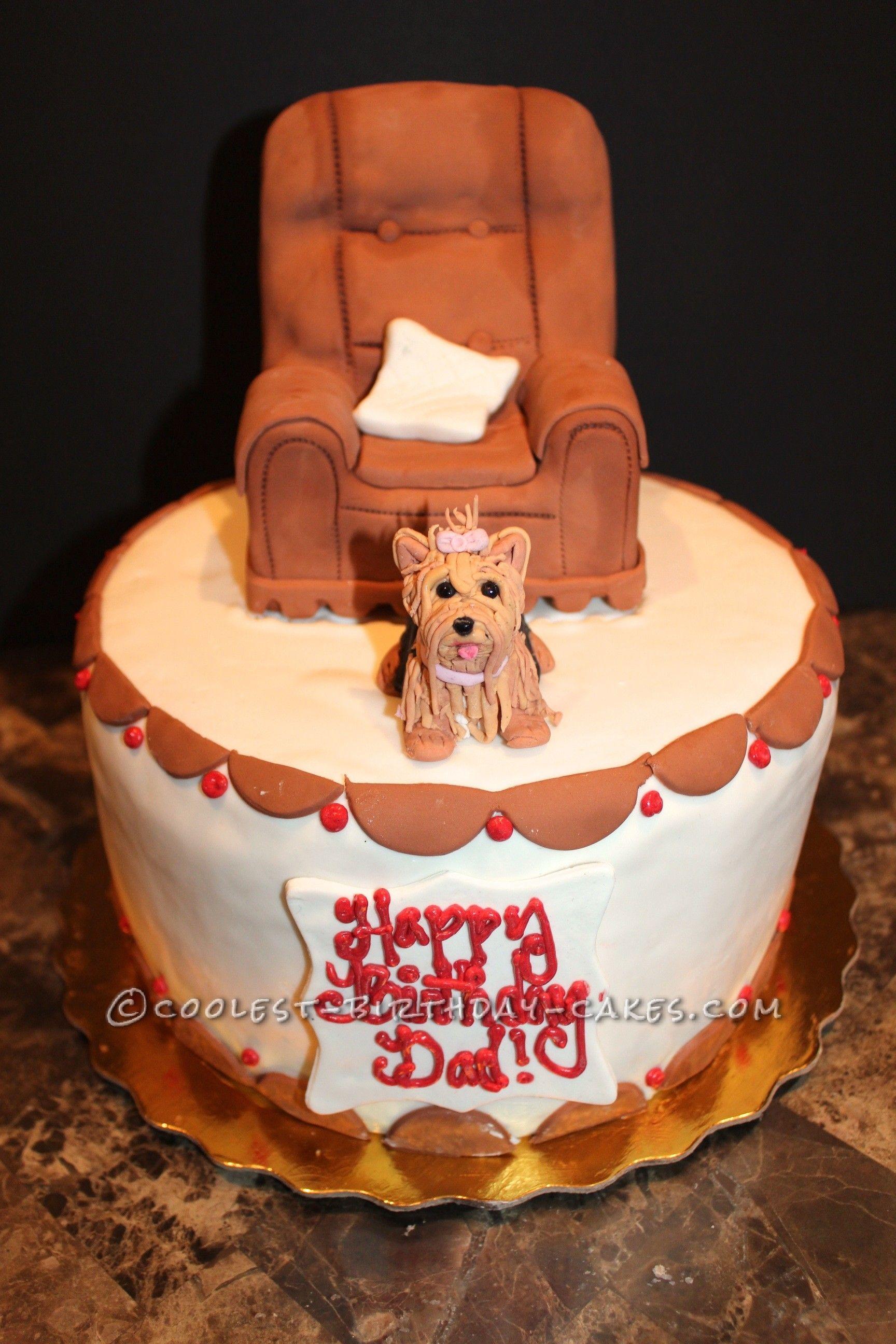 Awesome dads yorkie birthday cake birthday cakes dads