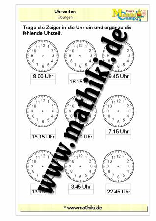 Zeiger einzeichnen - ©2011-2016, www.mathiki.de - Ihre Matheseite im ...