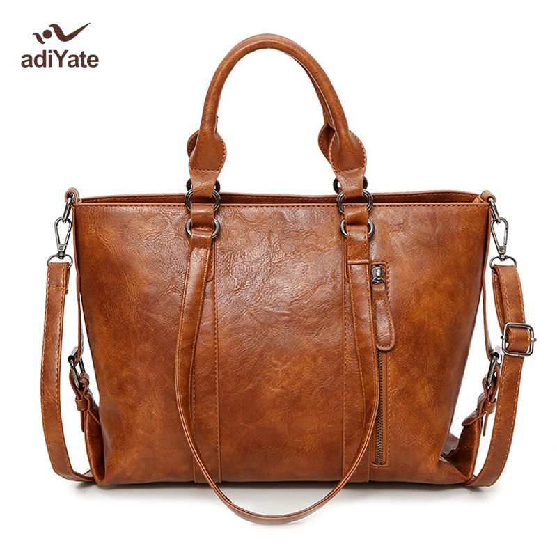 a249ff2552e ADIYATE Women Bags Tote Winter Bag Estilo Europeu Big Tote O Bag Ground  Sand Shoulder Fashion