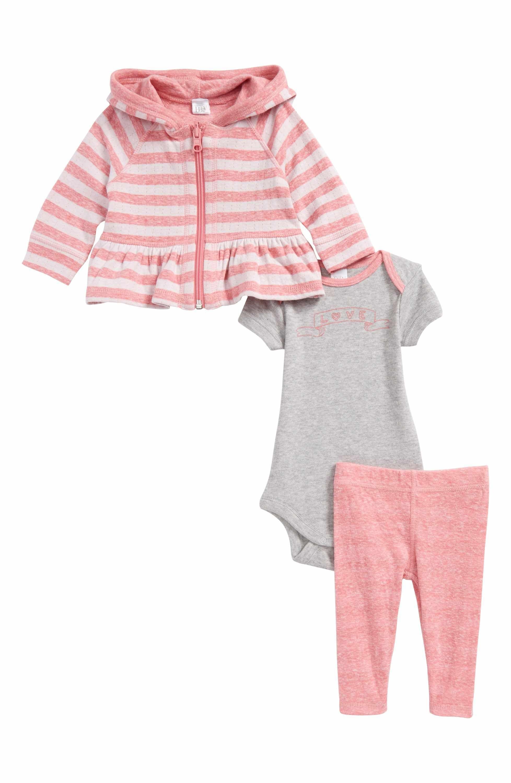 Main Image Nordstrom Baby Zip Hoo Bodysuit & Leggings Set