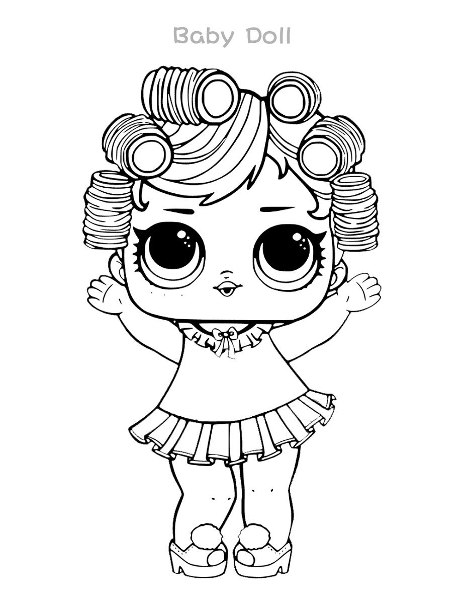 These Doll Pictures Are Not Just Cute But Also Adorable Take Out Your Kid S Favorite Color Marker And Make A Mast Baby Coloring Pages Coloring Pages Lol Dolls [ 1200 x 923 Pixel ]