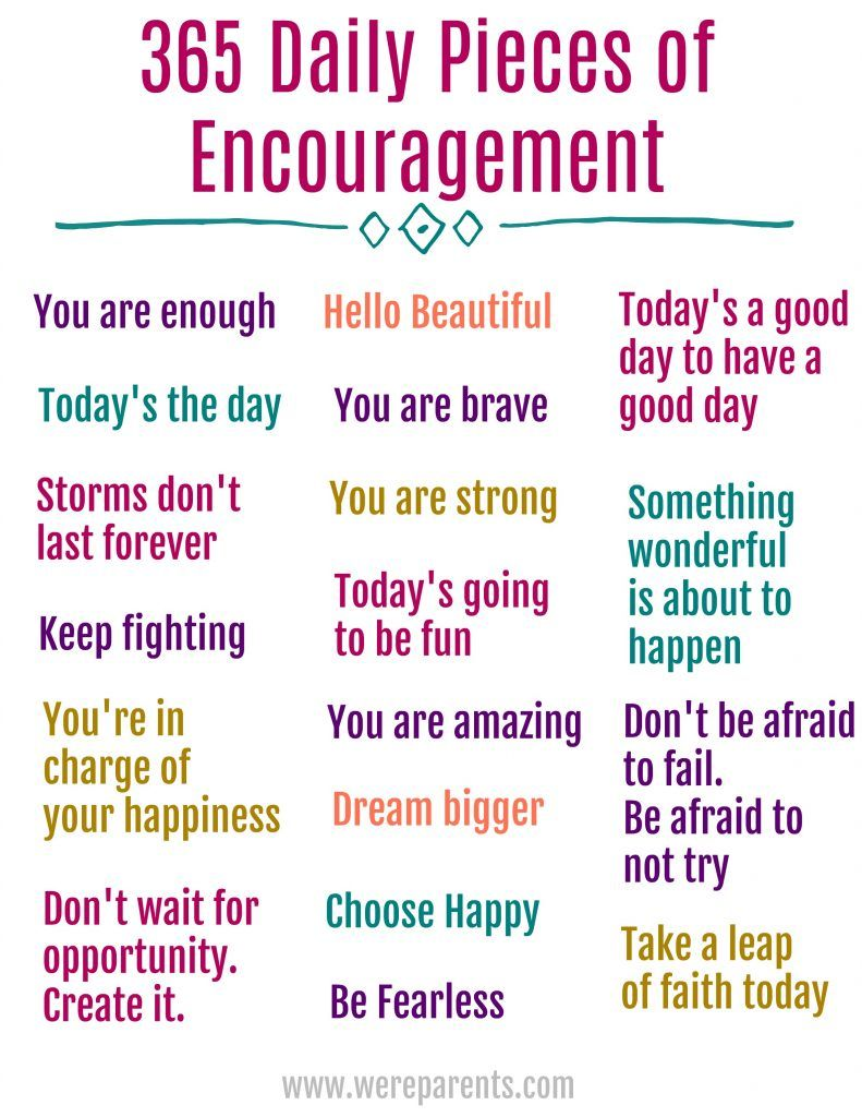 365 Daily Quotes of Encouragement - We're Parents #365motsbocalidees