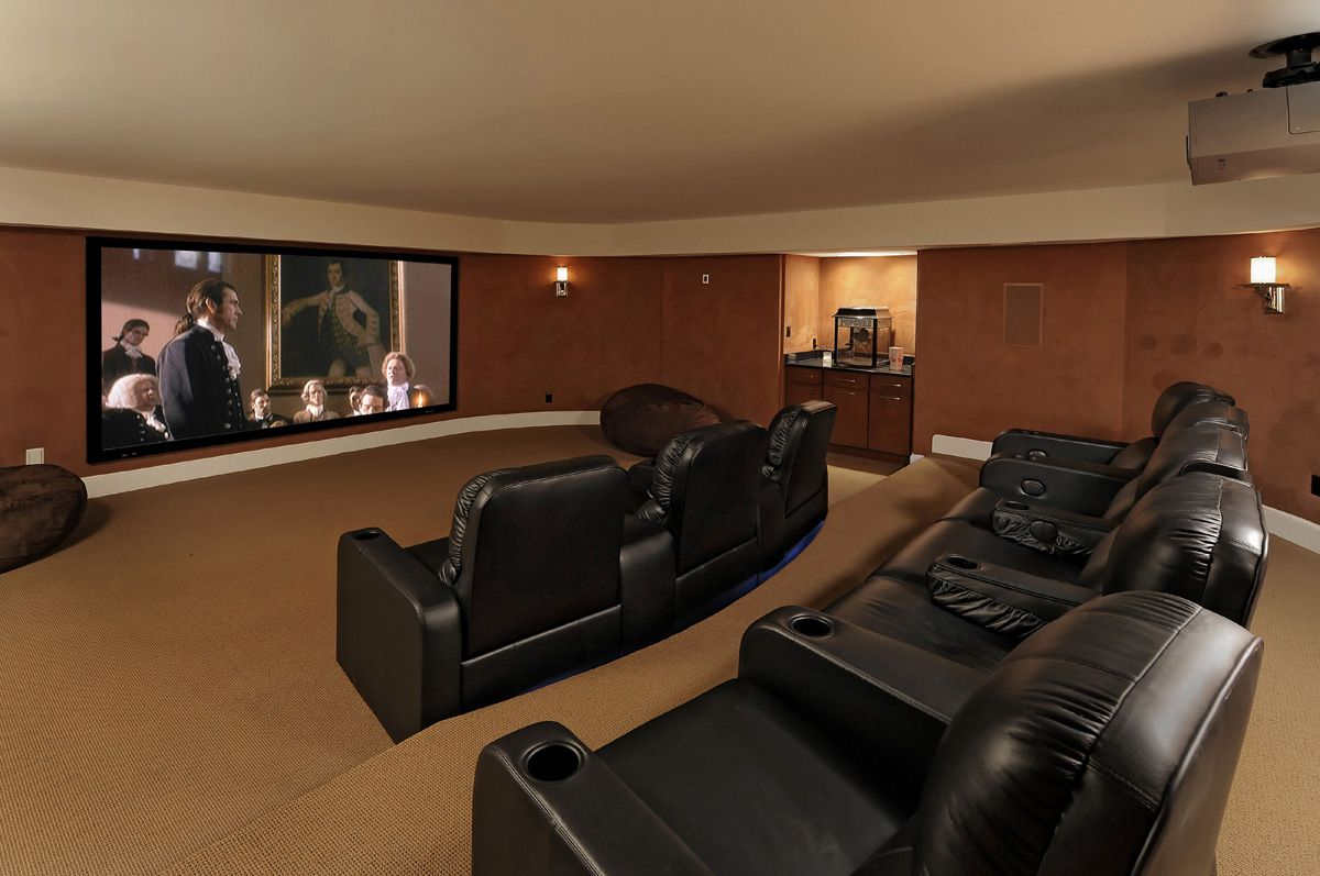 Media room pictures ideas whole house design build Media room paint ideas