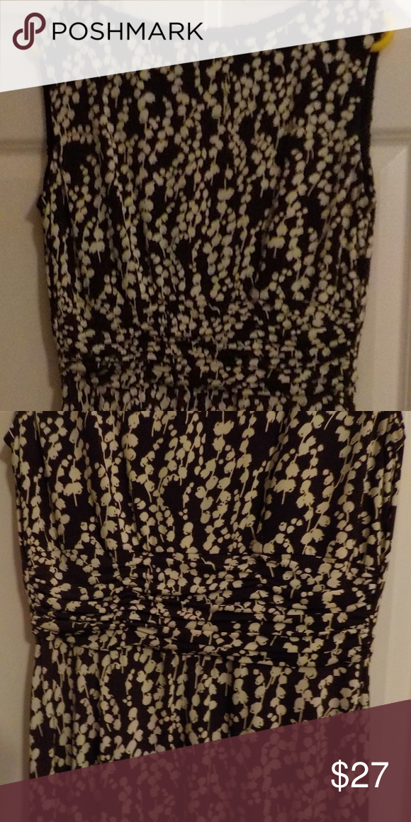 e18160569843f Jessica Howard Brown/White Stretch Maxi Dress Jessica Howard - Brown with  White design,