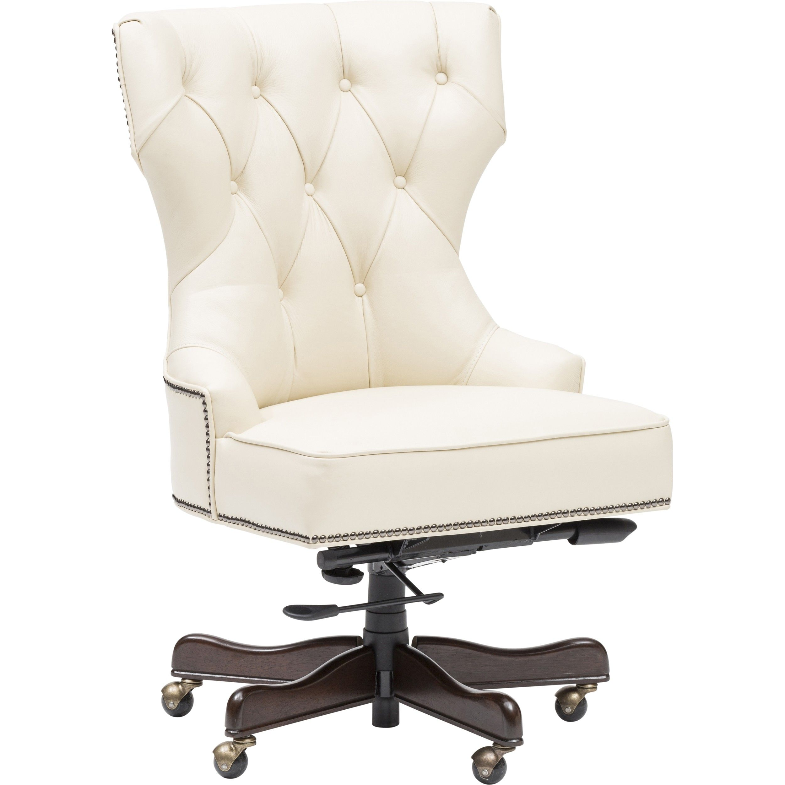Executive Tufted Leather Chair 749 00 White Officeleather