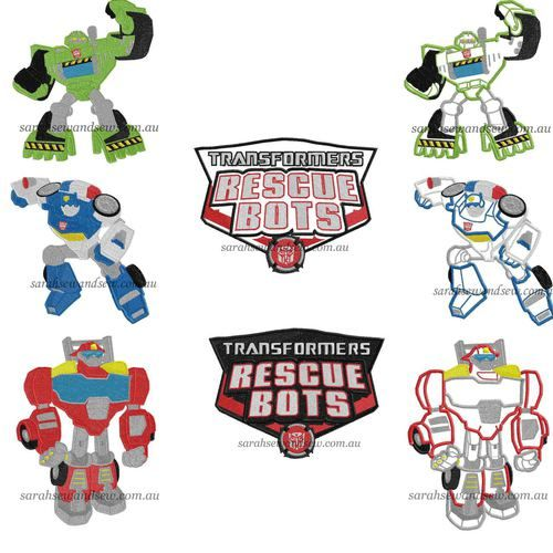 Image 1 Sewing Rescue Bots Embroidery Designs Embroidery