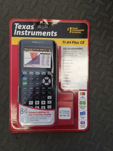 Calculators: Brand New Texas Instruments Ti-84 Plus Ce Graphing Calculator BUY IT NOW ONLY: $105.0