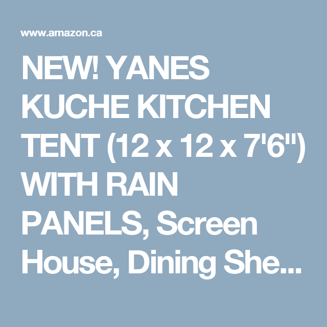 YANES KUCHE KITCHEN TENT (12 x 12 x 7u00276 )  sc 1 st  Pinterest & NEW! YANES KUCHE KITCHEN TENT (12 x 12 x 7u00276