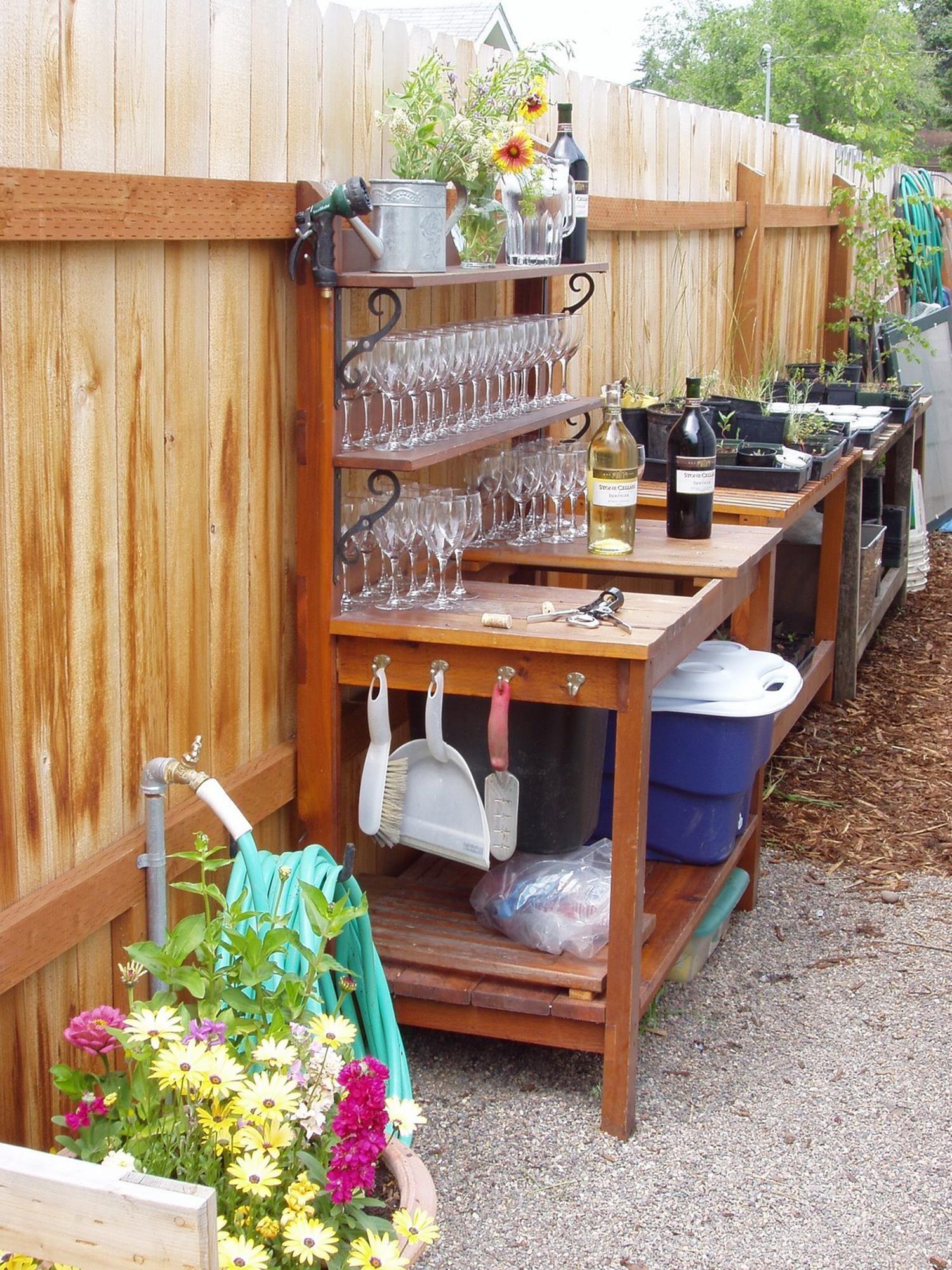 38 Charming Outdoor Garden Potting Bench Design Ideas Garden