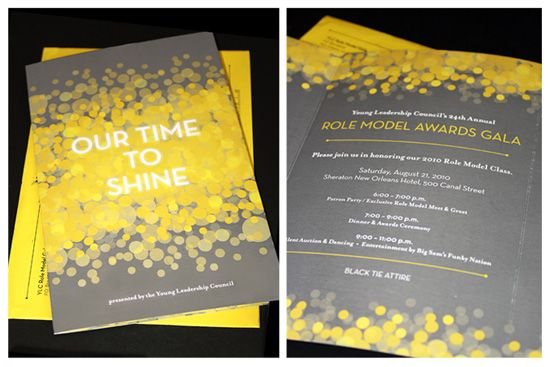 Invitation Design For Young Leadership Council S Role Model Gala