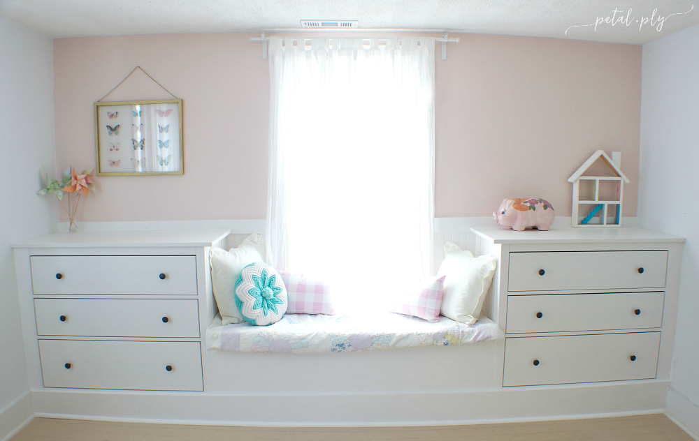 Double Dresser Window Seat Built In With Ikea Hemnes Diy Window Seat Ikea Rast Hack Window Seat