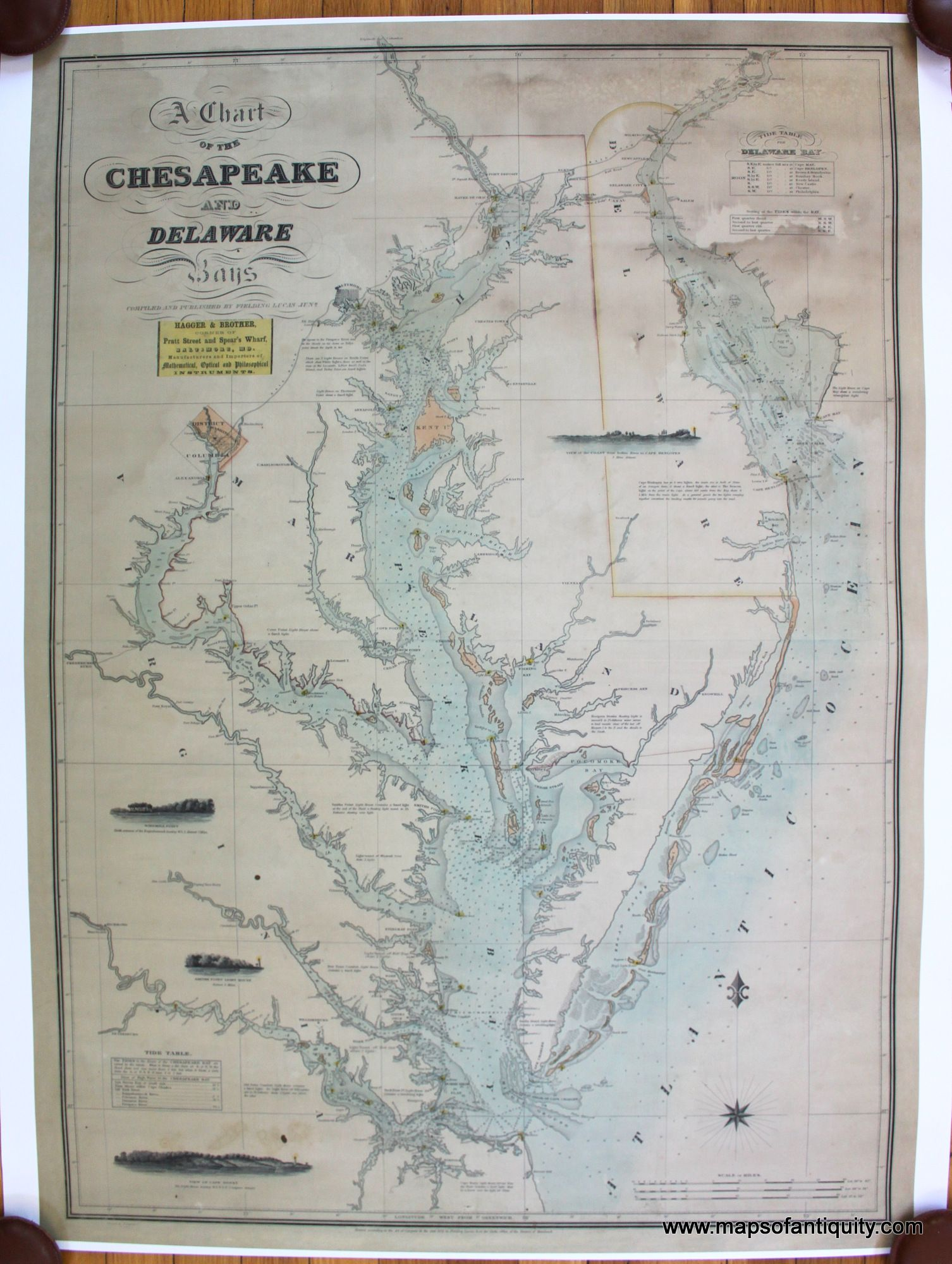 A Chart Of The Chesapeake And Delaware Bays
