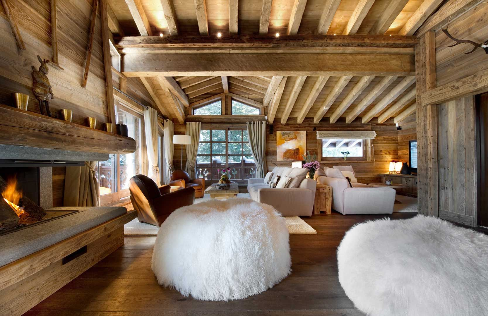 Romantic Winter Chalet In Courchevel Charms With Its Timeless