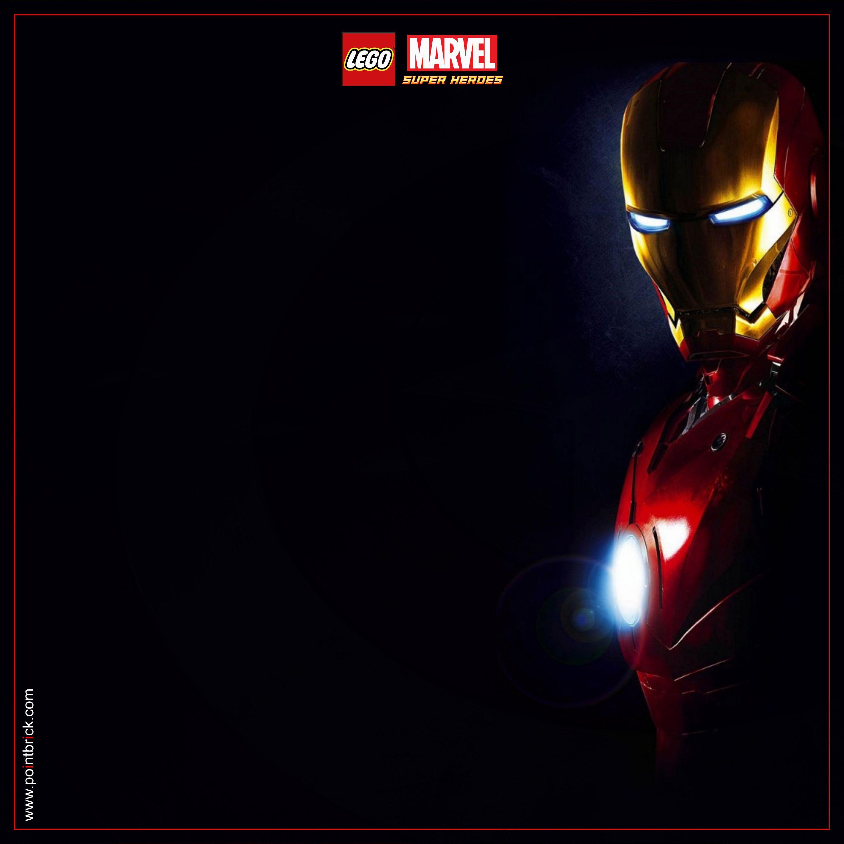 LEGO Minifigures Display Frame - Background 230mm Marvel Ironman 2 - Clicca…