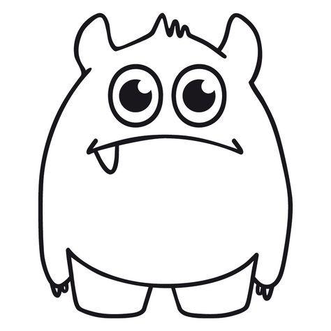 Monster Mit Einem Zahn Schneidedatei Ausmalbilder Lustige Malvorlagen Monster Malen