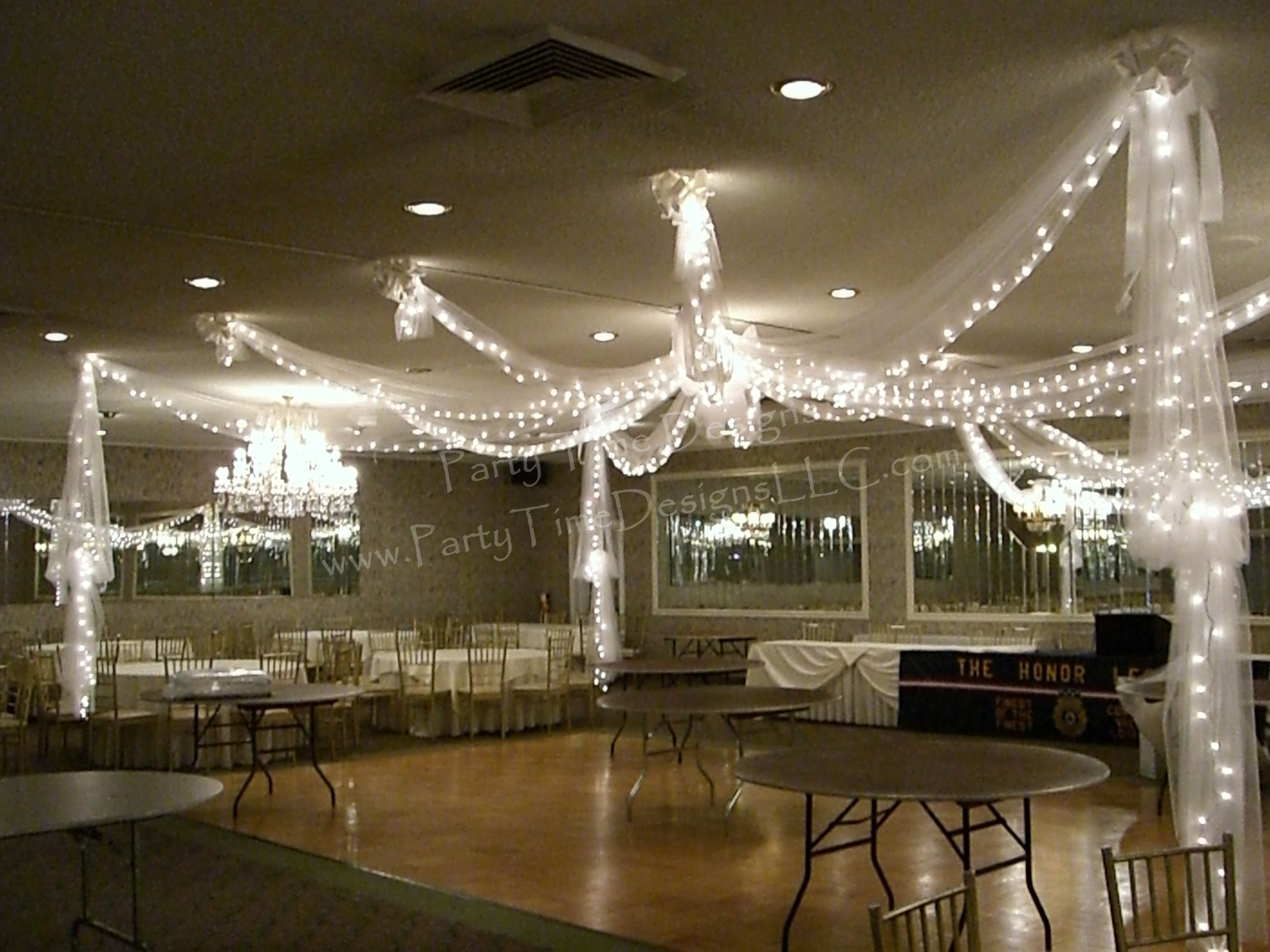 Dance Floor Tulle Draping With Lights
