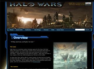 Halo Wars is a good video game site example for a design style ...
