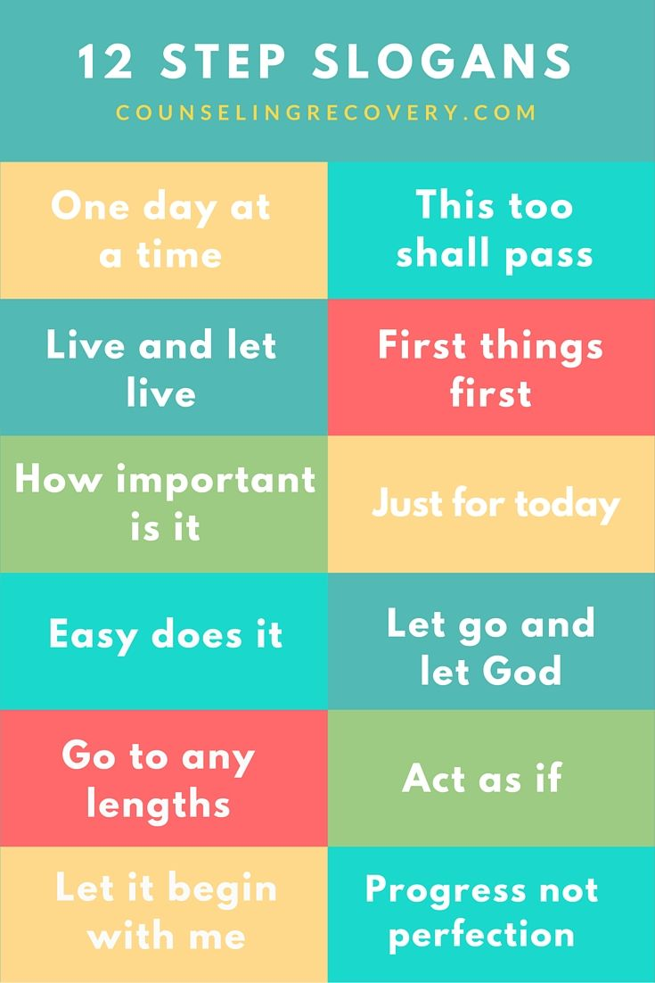 12 Lessons in Recovery (and in Life) | 12 Step Slogans | Pinterest ...