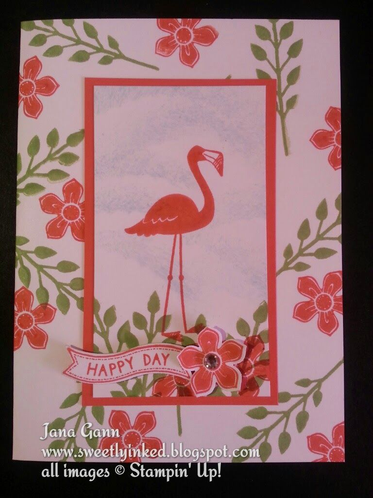 Sweetly Inked by Jana. Stampin\' Up!, Flamingo Lingo, Flower Patch ...