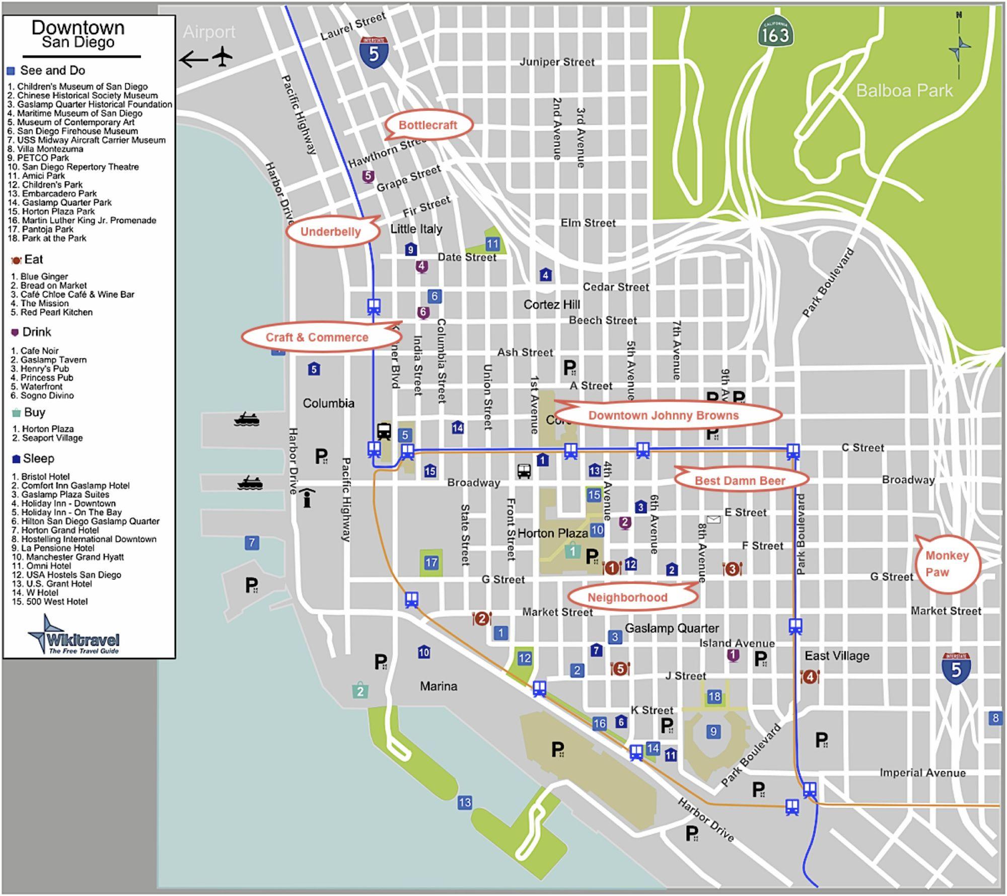 San Diego Beer Map San Diego Craft Beer – Part Two – Walk, Trolley & Drink Beer in