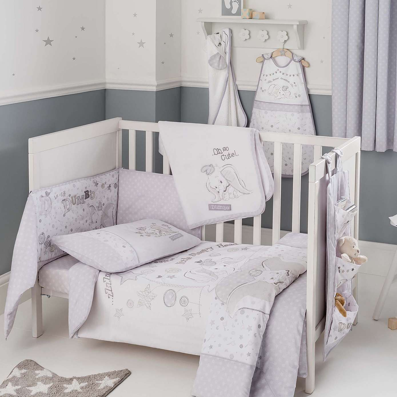 CUTE STAR **NEW LUXURY BABY BOY BEDDING SET for COT//BED BABY BLUE and GREY