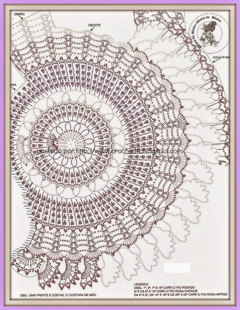 Blusa tejida al crochet con motivo circular | Todo crochet | blusas ...