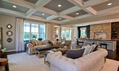 Willowsford milburn great room and kitchen  home design interior also model ideas pinterest rh