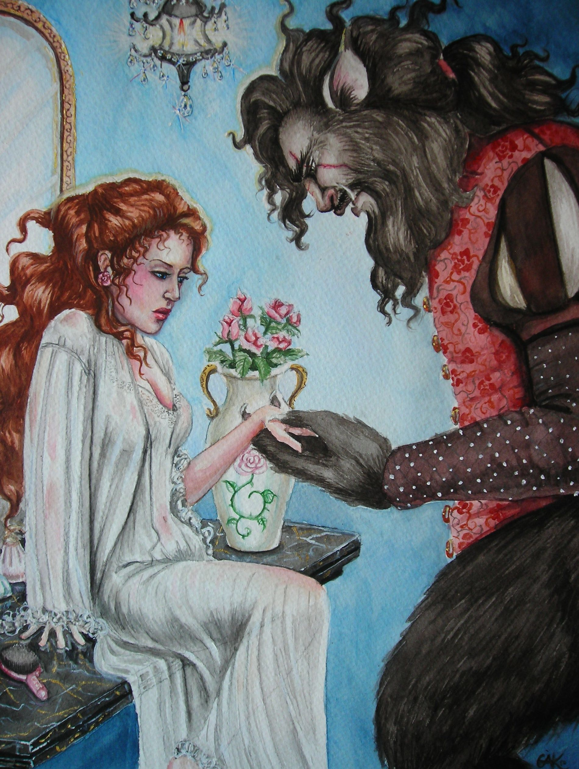 Beauty And The Beast By Gwynneth Kovacs Fairytale Art Beauty