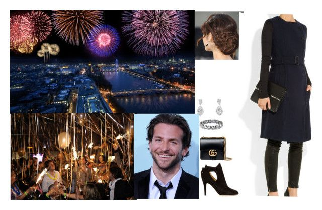 """Celebrated the New Year with David and some friends"" by pacqueline-ngoya on Polyvore featuring mode, Burberry, Jimmy Choo et Gucci"
