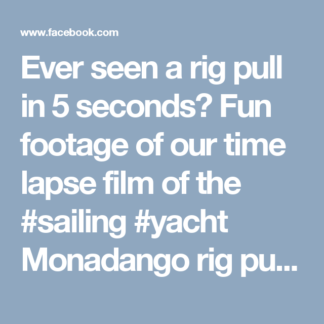 Ever seen a rig pull in 5 seconds? Fun footage of our time lapse film of the #sailing #yacht Monadango rig pull reduced to a 5 second clip from a few years ago. In just the last six weeks we have pulled and stepped a record number of #superyacht rigs. The success of which are testament to our outstanding #rigging teams. To get in touch with us for your all y our rigging and spar services for 2017/8 contact info@rsb-rigging.com #RiggingInPalma www.rsb-rigging.com