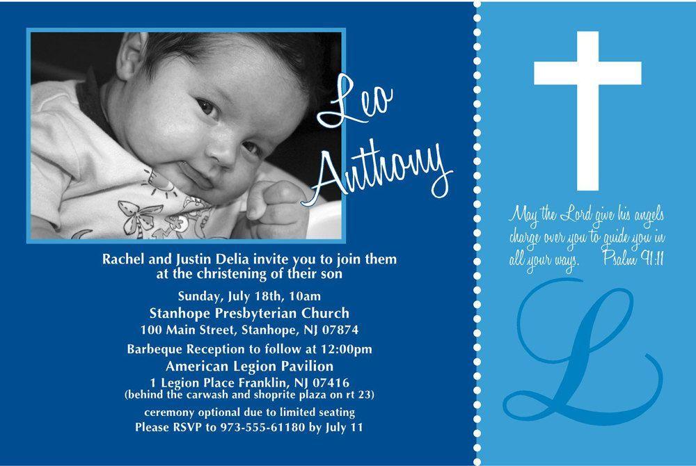 baptism invitation wording card