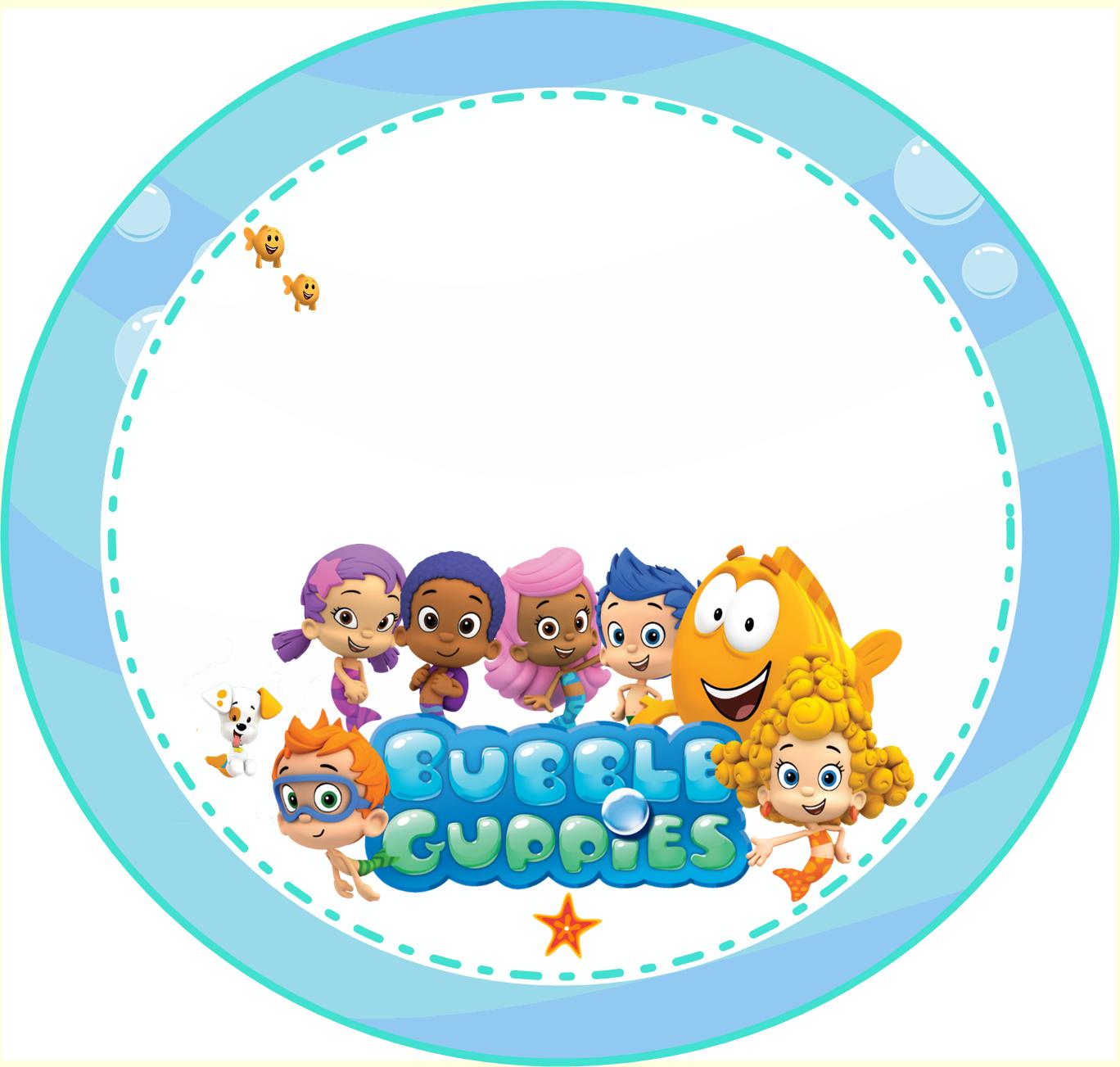 kit de personalizados tema bubble guppies bubble guppies guppy