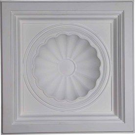 Ekena Millwork Shell Primed Patterned 3/4-In Drop Ceiling Tiles (Common: 24-In X 24-In; Actual: 23.875-In X 23.875-In) C