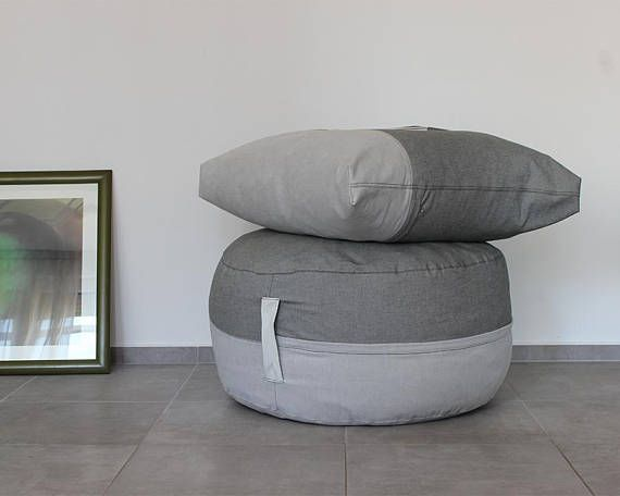 Large Pouf Ottoman Unique Round Ottoman Cover Pouf Tuffet Footstool Large Pillow  Soft Design Ideas