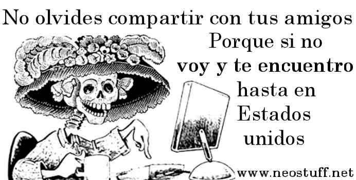 Calaveritas Y Versos Para Dia De Muertos Calaveras Literarias